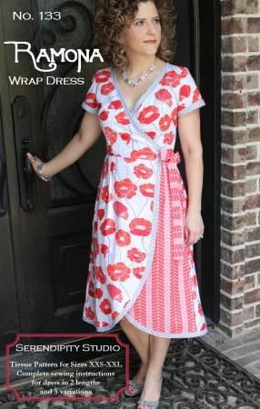 Ramona Wrap Dress pattern by Kay Whitt / Serendipity Studio