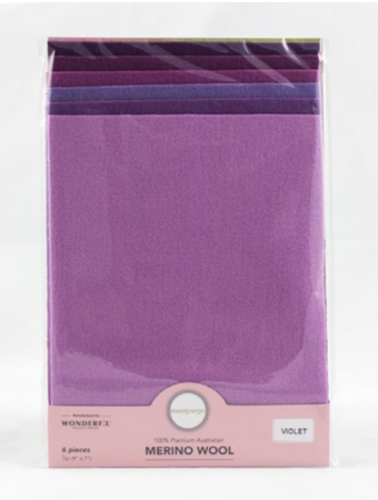 Sue Spargo Assorted Wool Packs Fat 64 Violet