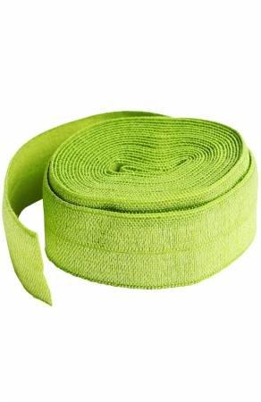 Fold-over Elastic 3/4in x 2yd - Apple Green