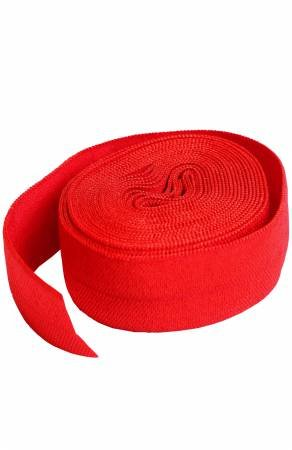 Fold-over Elastic 3/4in x 2yd - Atom Red