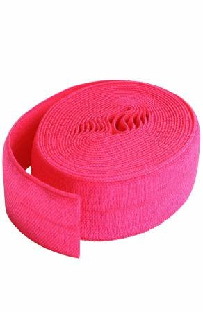 Fold-over Elastic 3/4in x 2yd - Lipstick Pink
