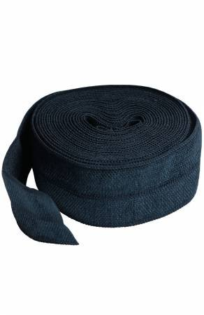 Fold-over Elastic 3/4in x 2yd - Navy Blue