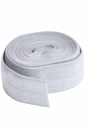 Fold-over Elastic 3/4in x 2yd - Pewter