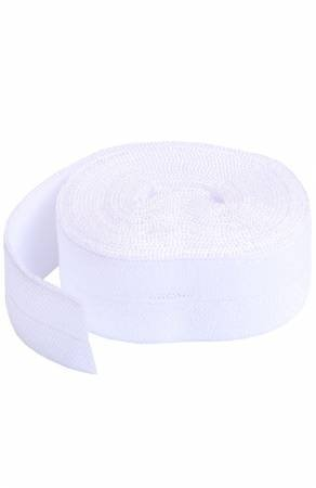 Fold-over Elastic 3/4in x 2yd - White