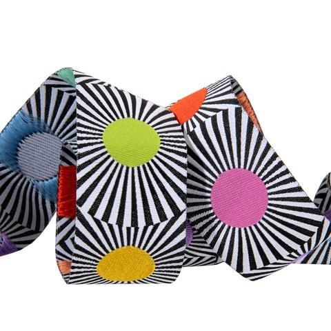 Tula Pink Linework Ribbon-Wide Multi Dots- - 1 1/2