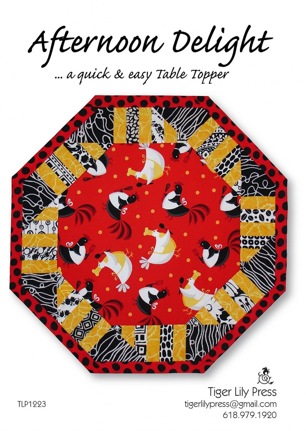 Afternoon Delight Table Topper pattern by Nicole Chambers Kaya / Tiger Lily