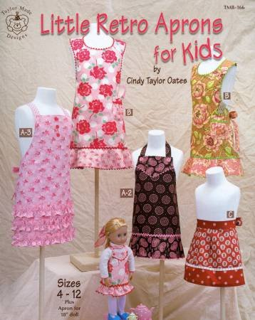Little Retro Aprons For Kids by Cindy Taylor Oates - Softcover Book