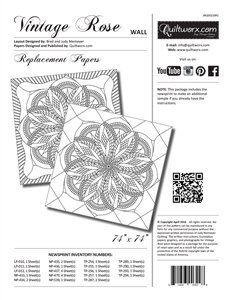 Vintage Rose Wall Pattern - Replacement Papers / Quiltworx