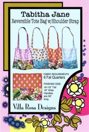 Tabitha Jane Reversible Tote Bag w Shoulder Strap Pattern