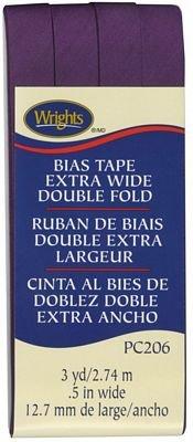 Extra Wide - Double Fold - Bias Tape - Plum - W206-572