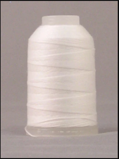 YLI - 12wt - T-90 Jeans Stitch - Polyester Thread - 180m/ 200 yd - WHT