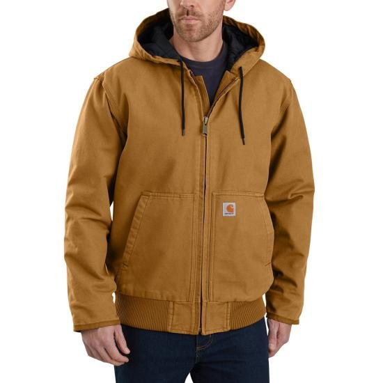 Carhartt 104050 Washed Duck Active Jac - Brown