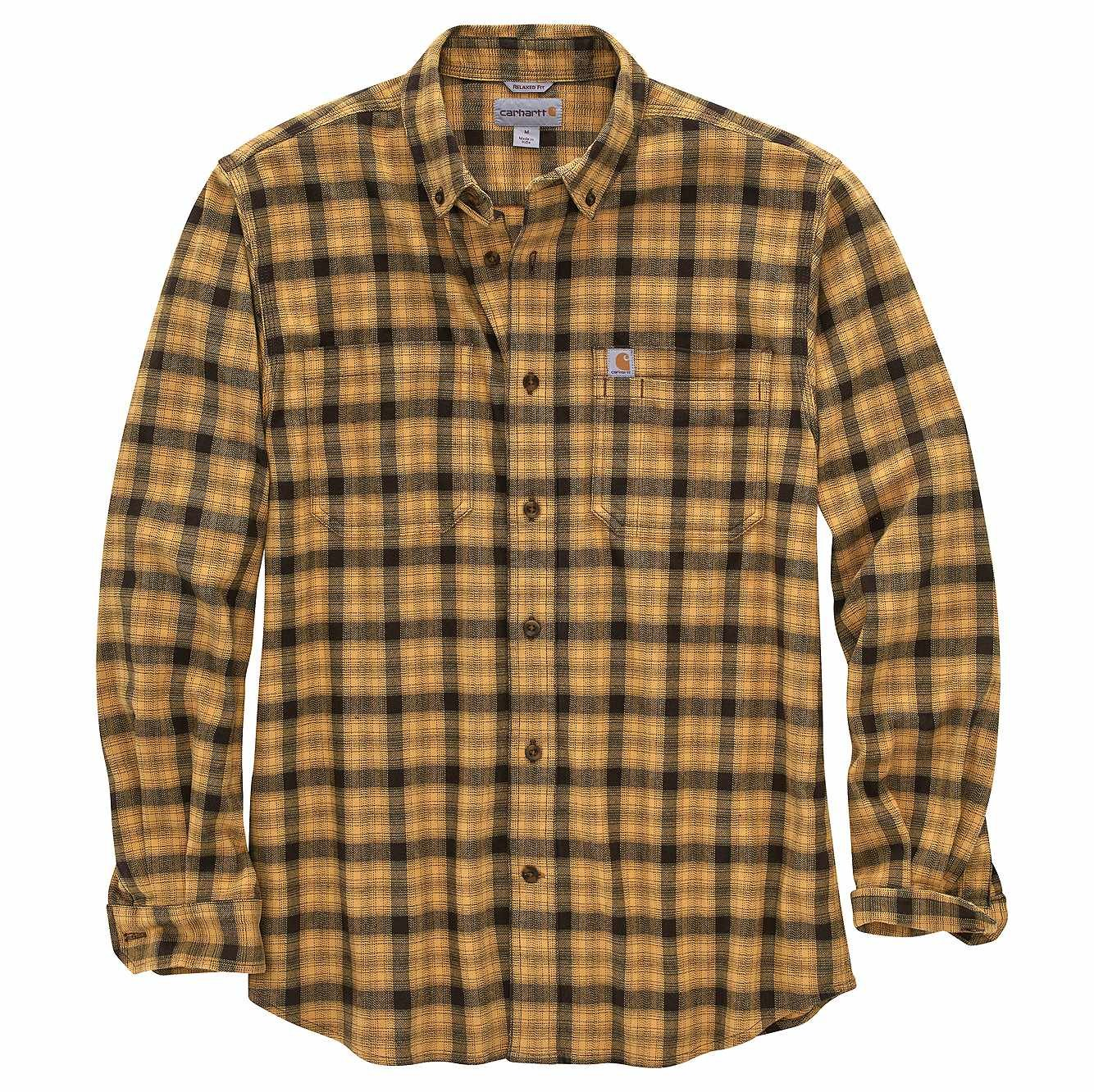 Carhartt 104448 Relaxed Fit Flannel Plaid - Khaki