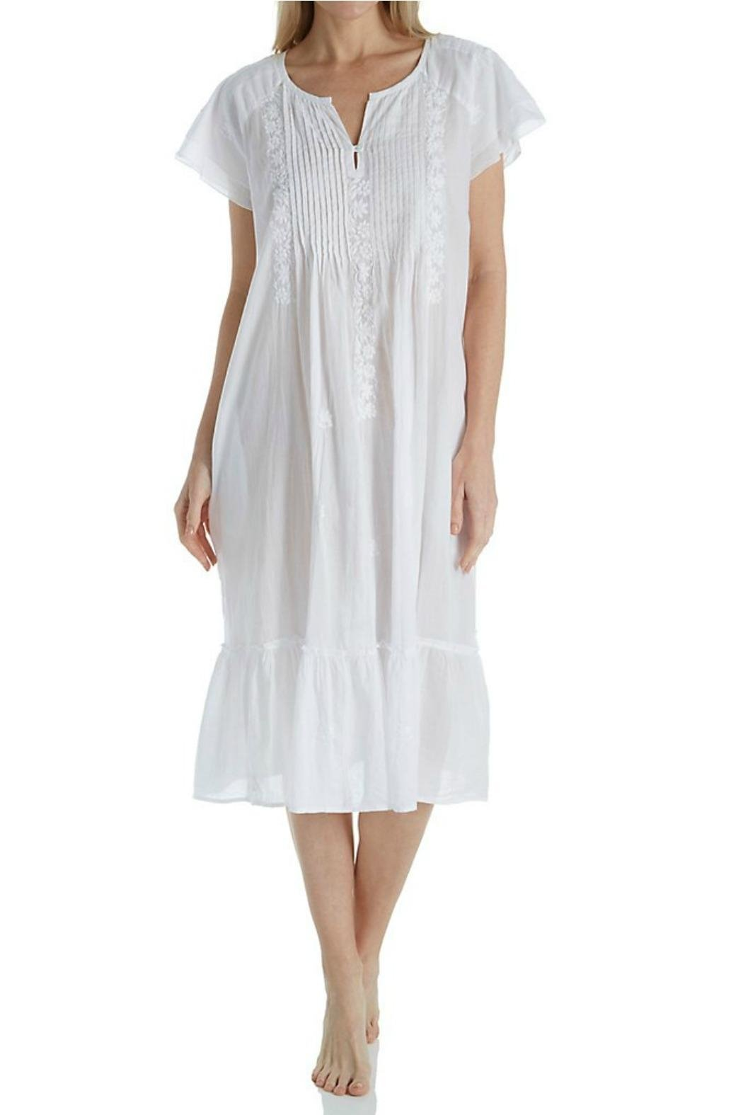 1166G Cotton Voile Gown White