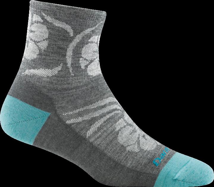 W's Darn Tough Mantra Merino 1/4 Sock 6051 - Gray