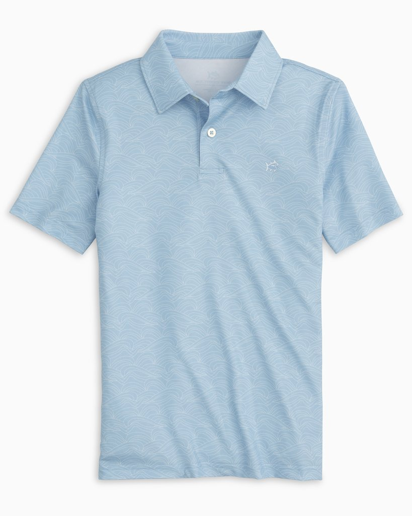 Southern Tide Youth Wave Print Polo 7743