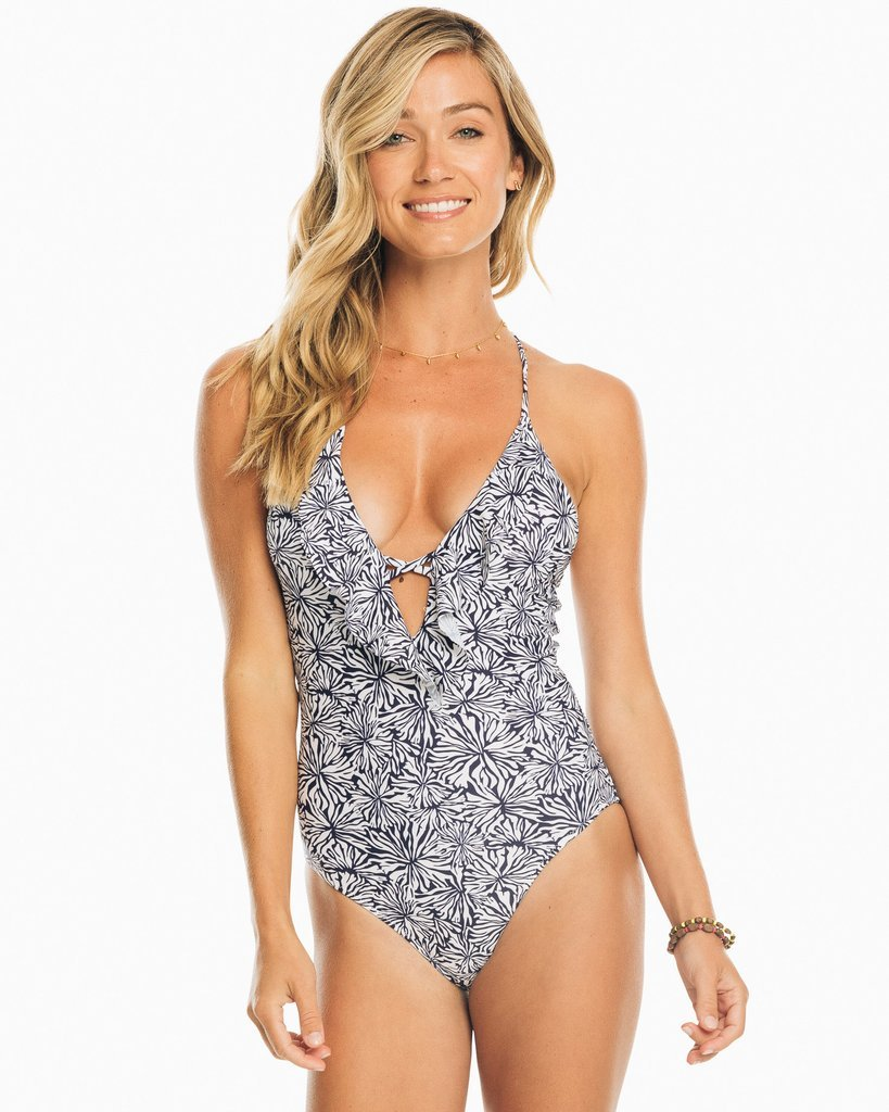 Blossom Ruffle One Piece Swim Suit by Southern Tide 7795