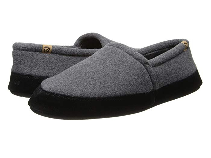 M's Acorn Moc Slipper in Charcoal