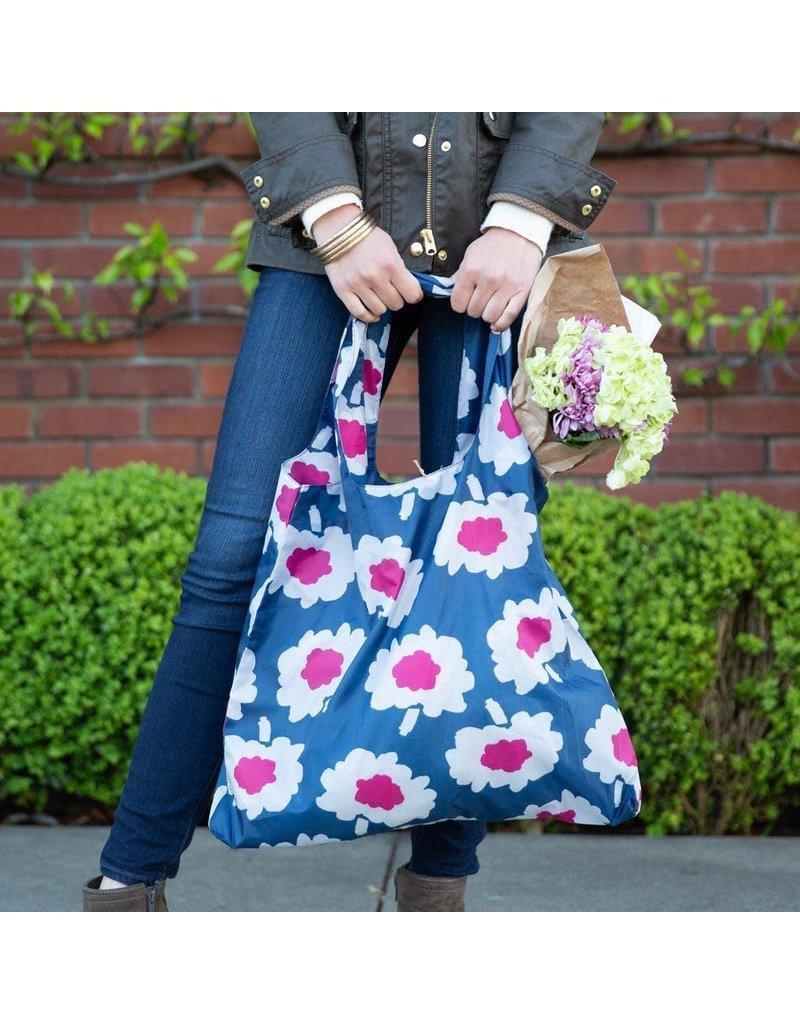 BluBag Reusable Shopping Bag - Adelaide Navy/Magenta