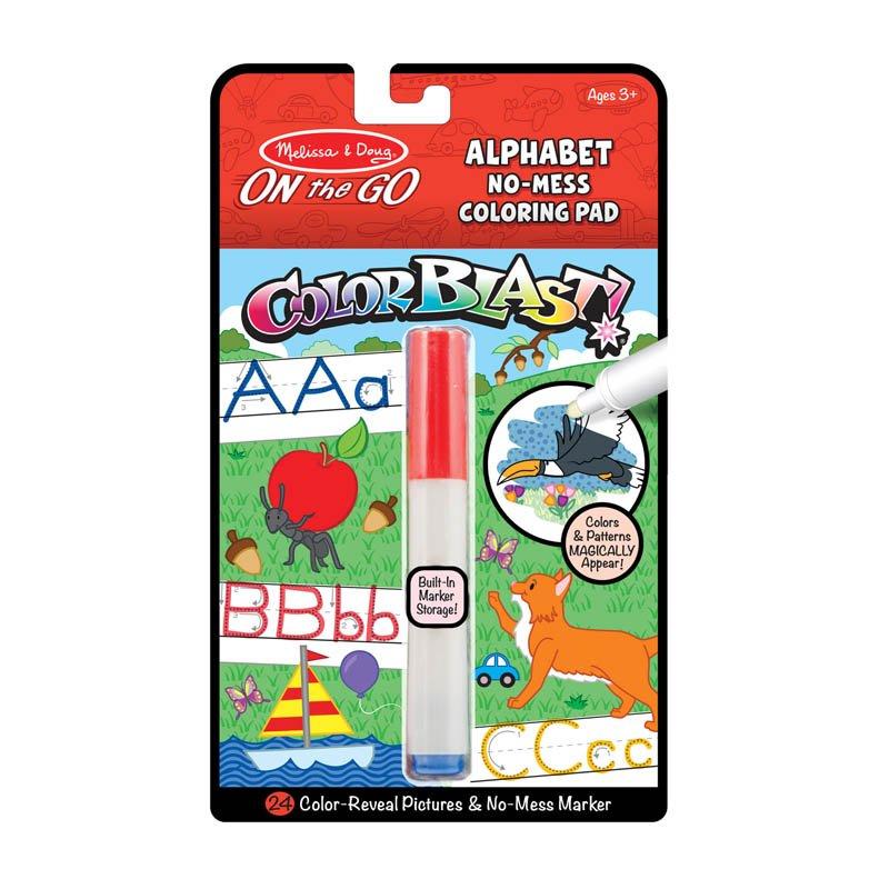 ColorBlast Alphabet No-Mess Coloring Pad