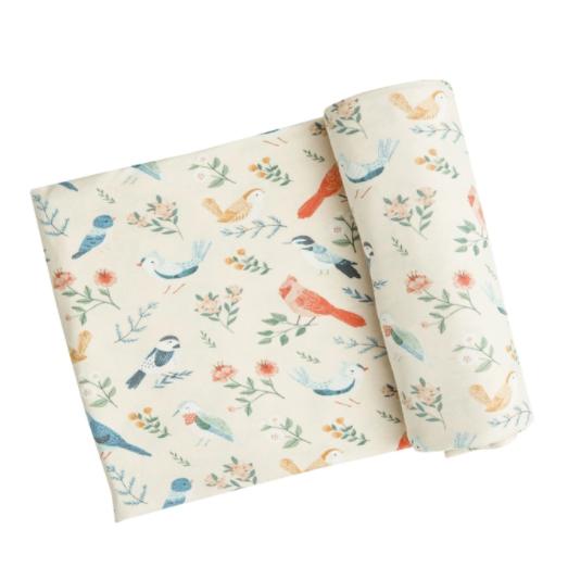 American Birds Swaddle Blanket by Angel Dear