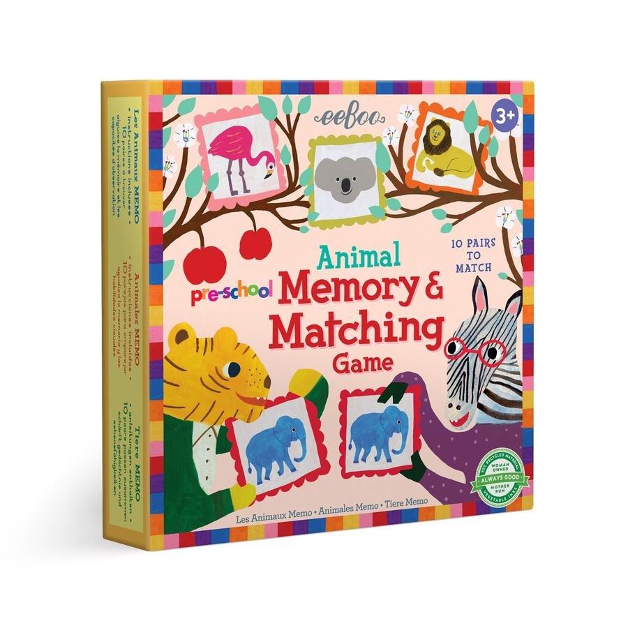 Eeboo Pre-School Animal Memory & Matching Game
