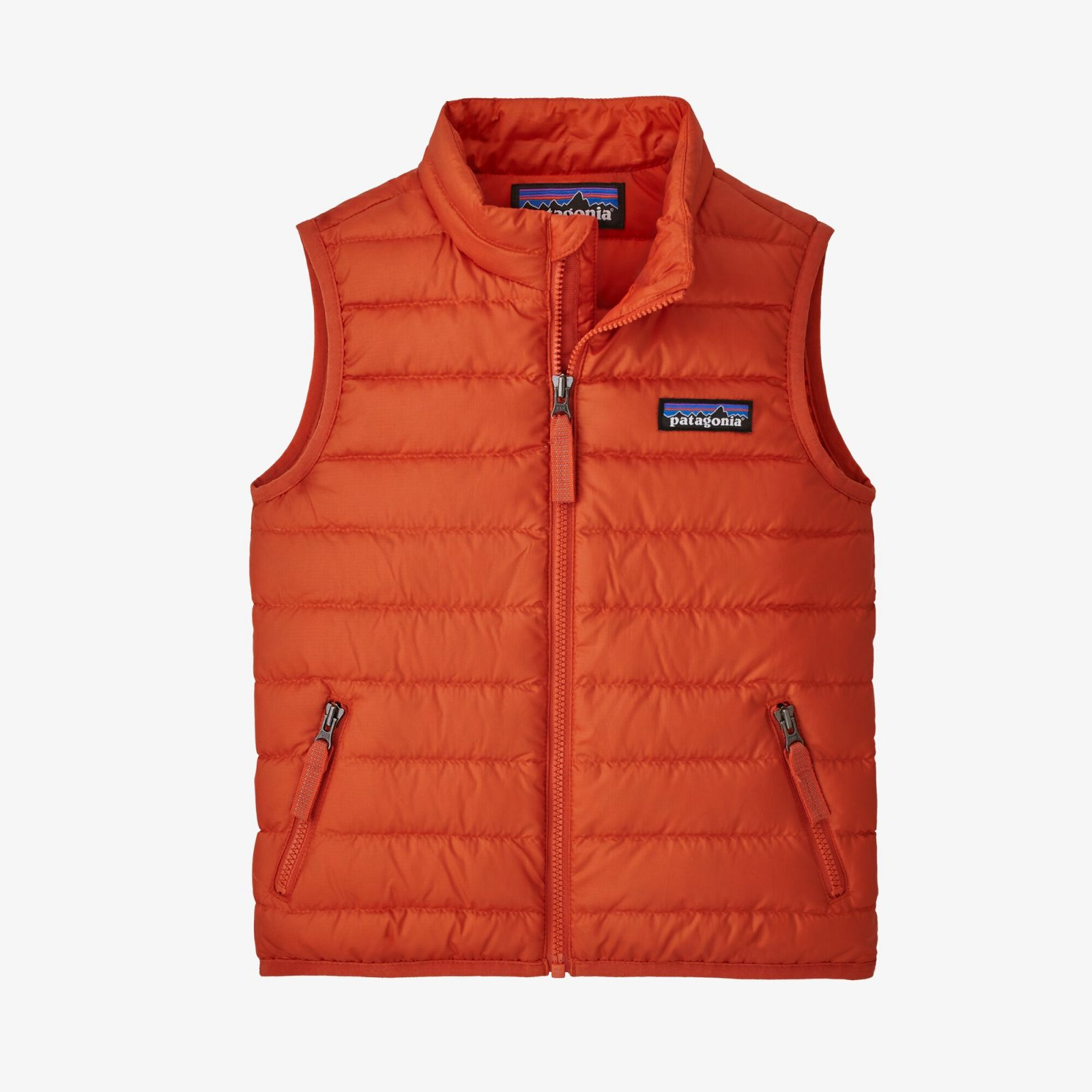 Boy's Baby Down Sweater Vest in Metric Orange