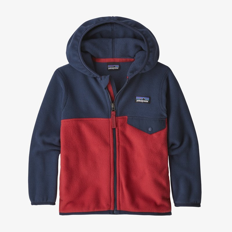 Baby & Boys Micro D Snap-T Jacket Fire/Navy by Patagonia