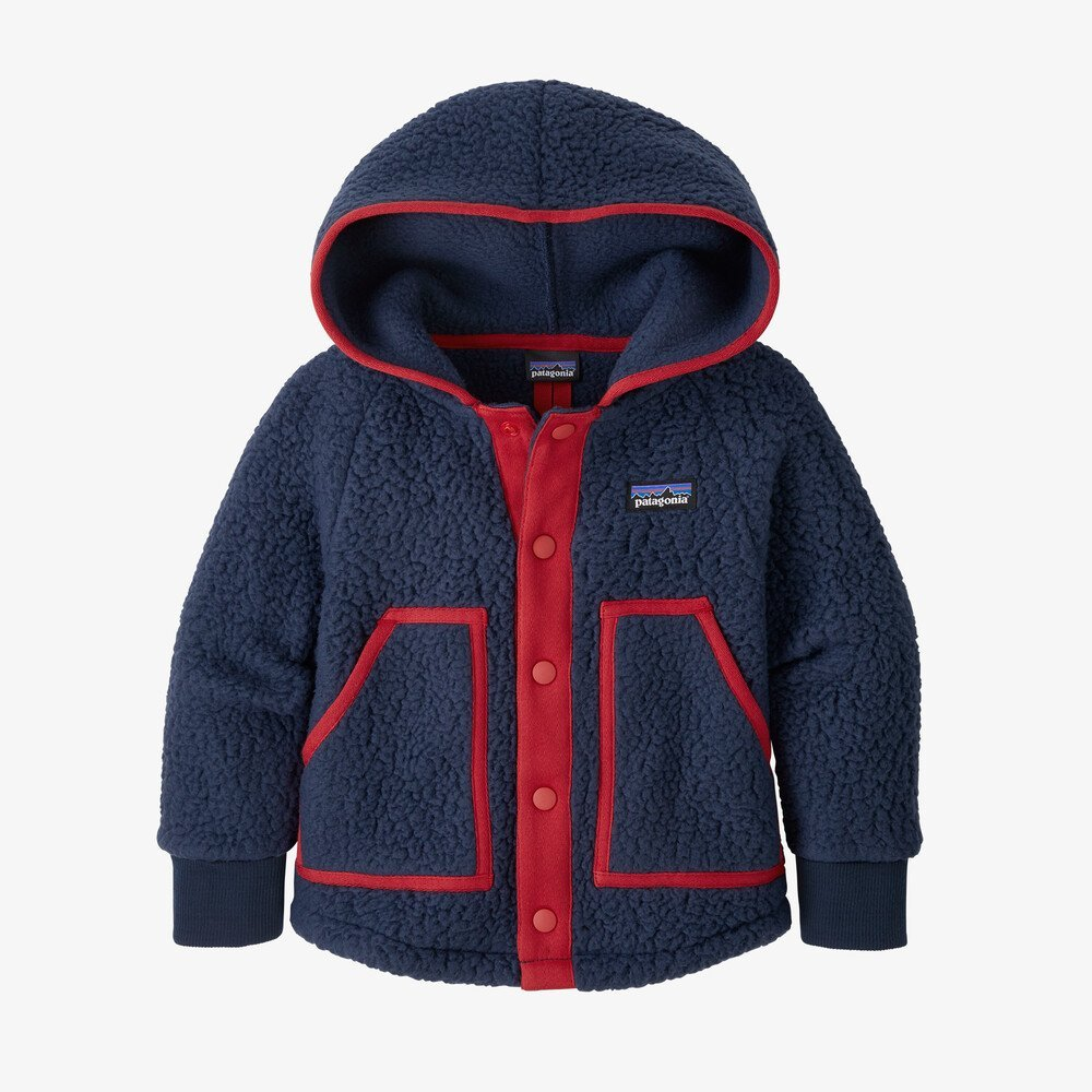 Baby Patagonia Retro Pile Jacket- New Navy