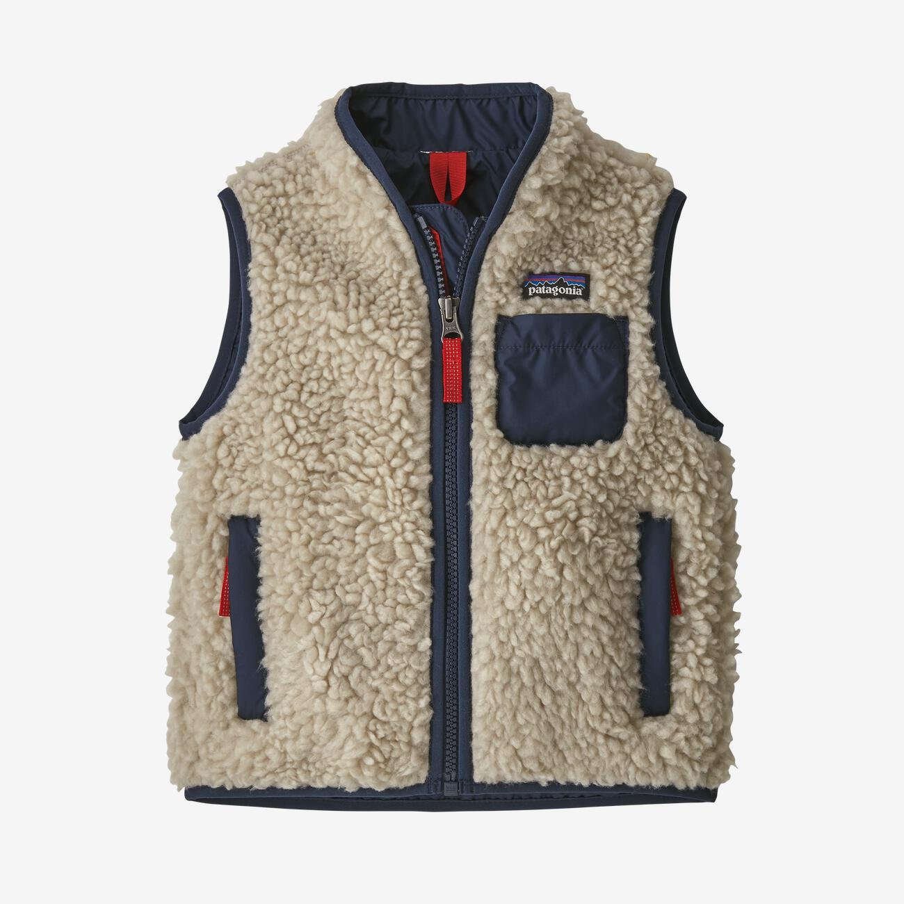 Patagonia Baby Retro-X Vest in Natural/Navy
