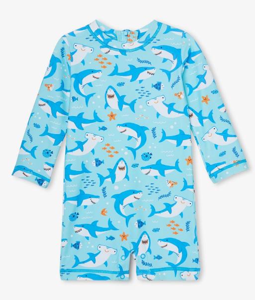 Baby Shark Party One-Piece Rashguard