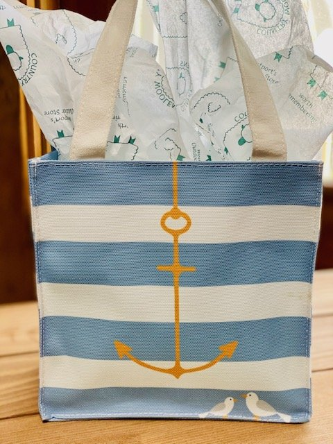 Reusable Cloth Gift Bag - Anchor