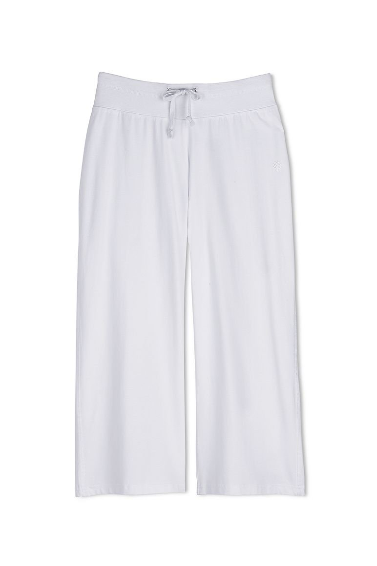 Coolibar UPF 50+ Windley Beach Capri White
