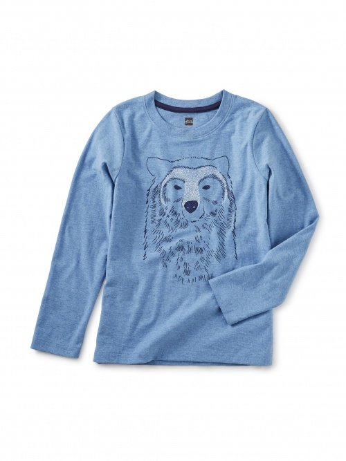 Bear Buddy Blue L/S Top by Tea Collection