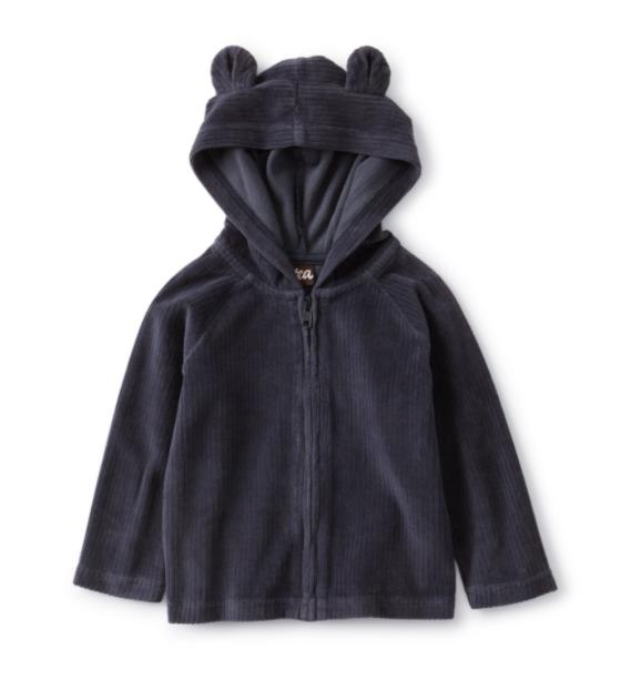 Bear Ear Zip Hoodie by Tea Collection