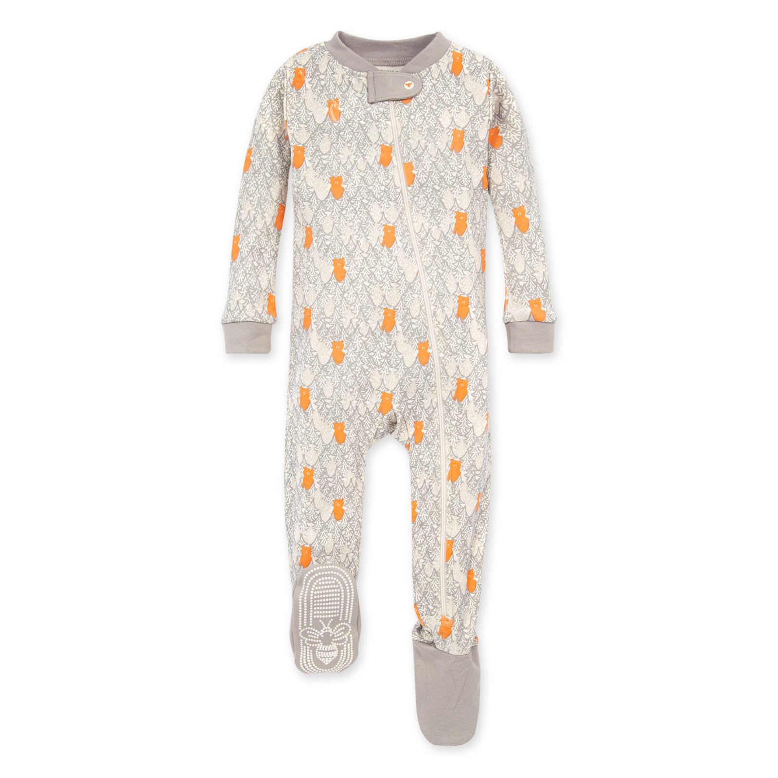 Burt's Bees LY27201 Bears In the Forest Organic Footie