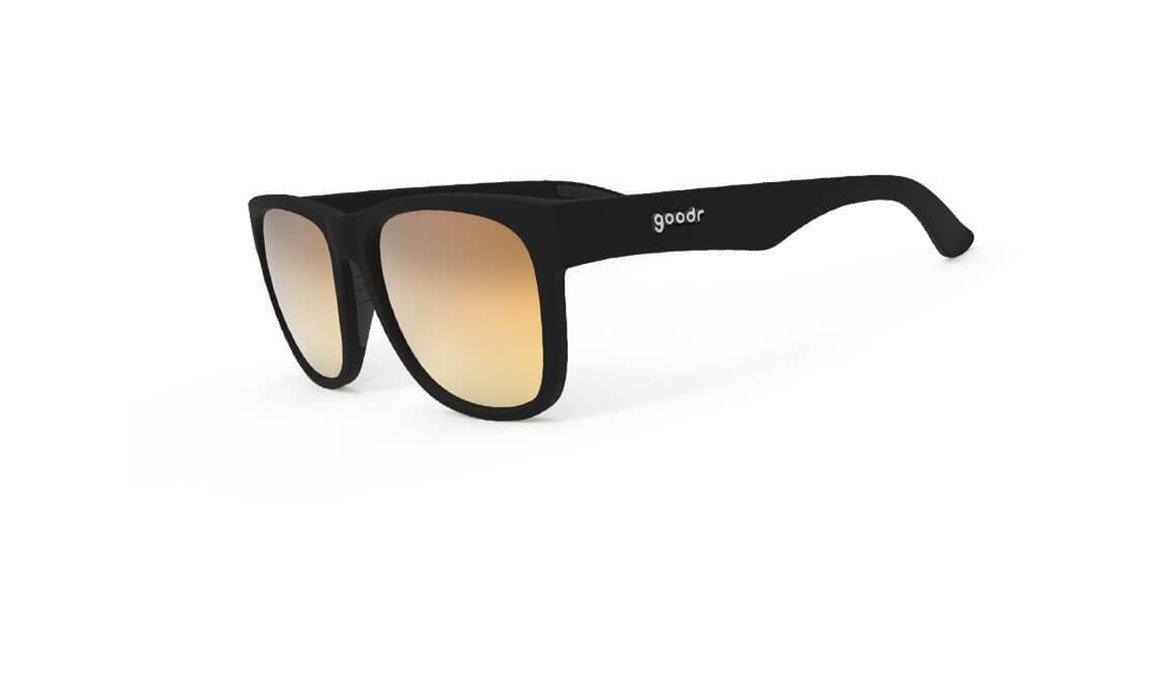Goodr Large Frame Non-Slip Polarized Sunglasses - Beelzebub's Bourbon Burpees