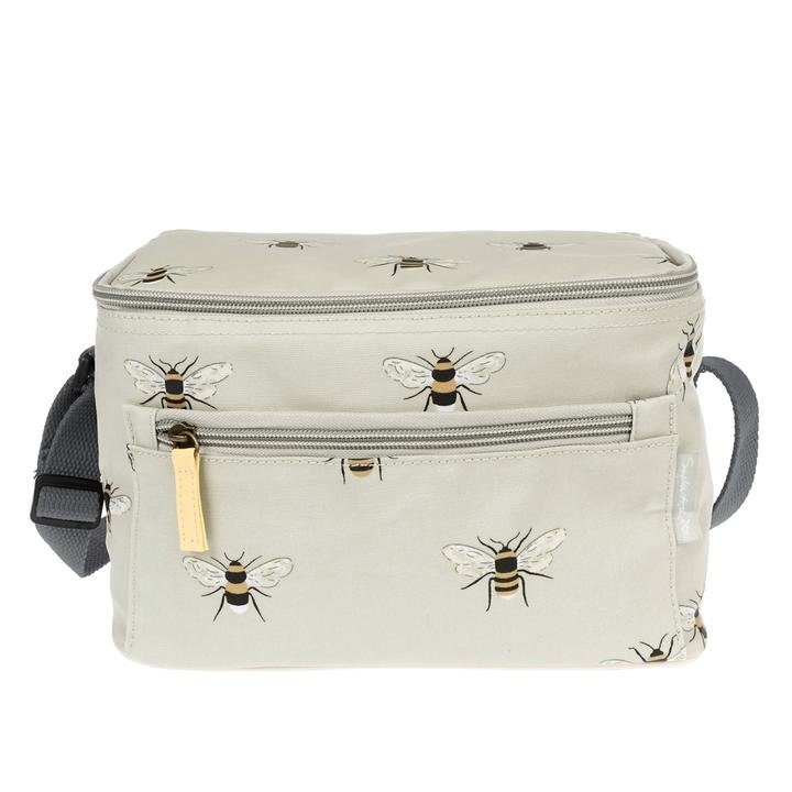 Oilcloth Insulated Lunchbag in Bee Print