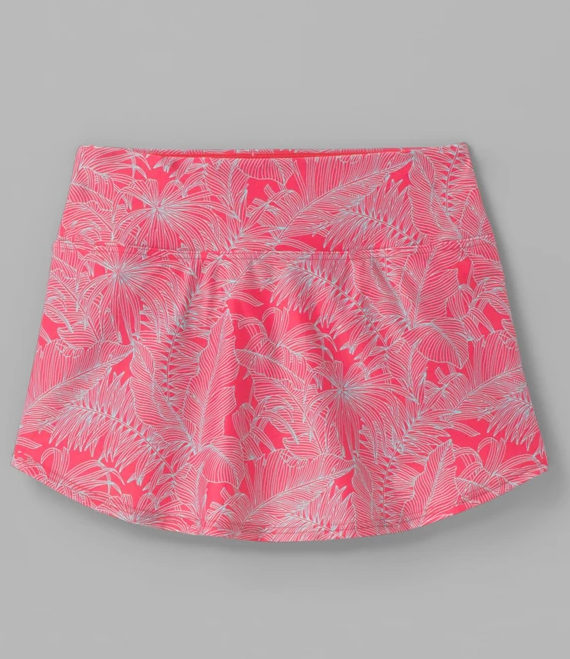 W's Prana Belltello Swim Skirt in Papaya Fronds