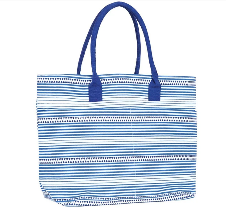 Bethany Blue Large Beach Tote