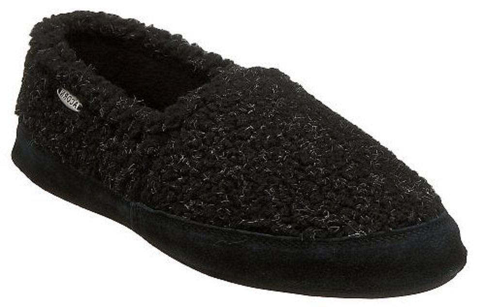 M's Acorn Moc Slipper in Black Berber