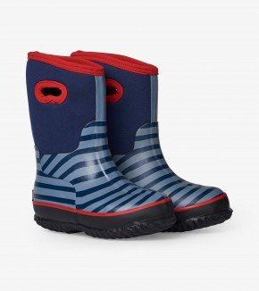 Boys Blue Stripe All Weather Boots by Hatley
