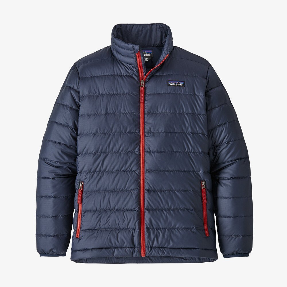 Boys Down Sweater Jacket in New Navy by Patagonia