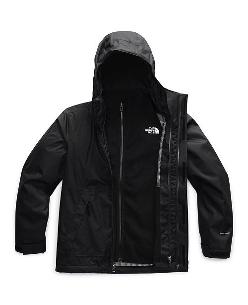 Boys North Face Vortex Triclimate Jacket in Black