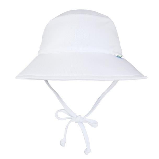 Breathable Swim and Sun Bucket Hat - White