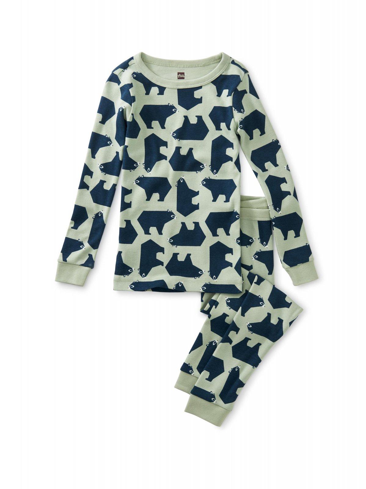 Boys Tea Collection Brown Bear A Bunch Long Sleeve Pajamas