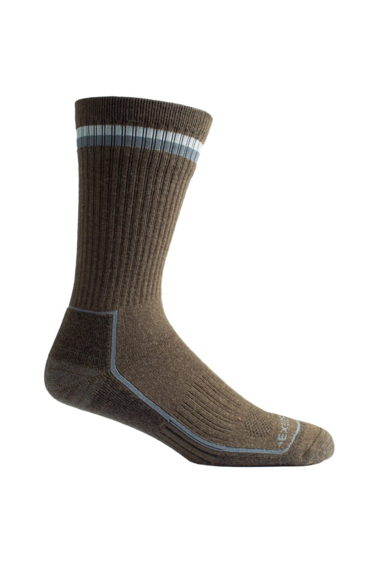 Men's BugsAway Stripe Sock Brown
