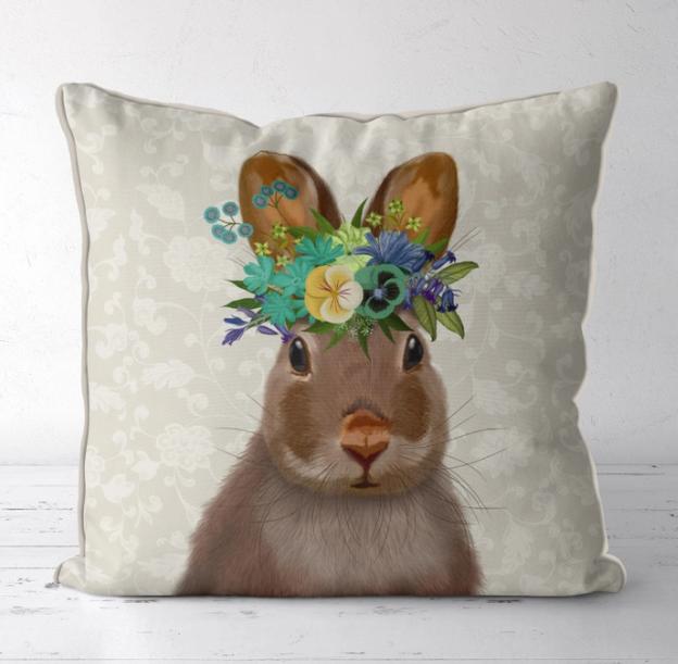 18x18 Decorative Pillow - Bunny