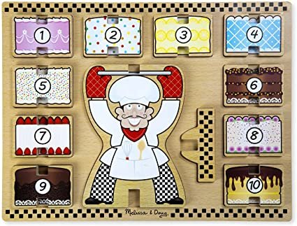 Counting Cakes Stacking Wooden Chunky Puzzle