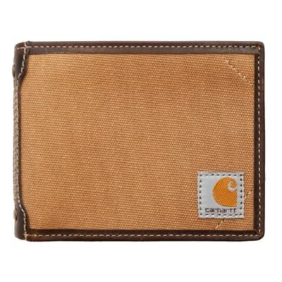 Carhartt Canvas Passcase Wallet - Carhartt Brown